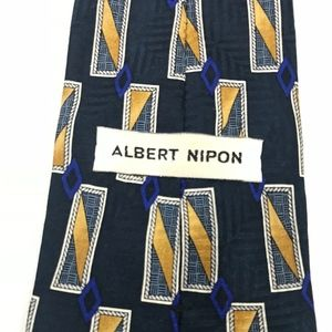 Albert Nipon Navy Tie